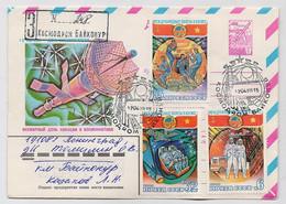 SPACE Stationery Cover Mail USSR RUSSIA Rocket Sputnik Set Stamp Baikonur Vietnam - Russia & URSS