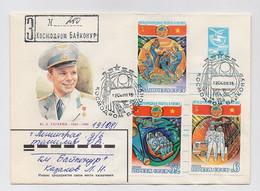 SPACE Stationery Cover Mail USSR RUSSIA Rocket Sputnik Set Stamp Baikonur Vietnam Gagarin - Russia & URSS