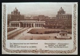 Österreich 1934, Offizielle Postkarte Österreichisches Heldendenkmal Ungebraucht - Altri