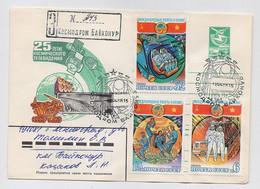 SPACE Stationery Cover Mail USSR RUSSIA Rocket Sputnik Set Stamp Baikonur Vietnam Television  Radar - Russia & URSS