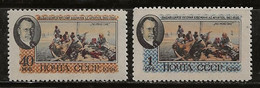 Russie 1956 N° Y&T : 1800 Et 1801 (gomme Faible) ** - Nuovi