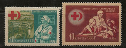 Russie 1956 N° Y&T : 1808 Et 1809  (gomme Faible) ** - Nuovi