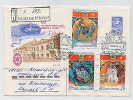 SPACE Stationery Cover Mail USSR RUSSIA Rocket Sputnik Set Stamp Baikonur Vietnam Plane - Russia & URSS