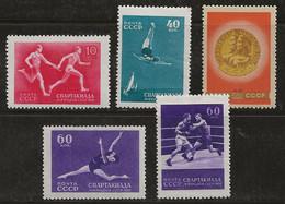 Russie 1956 N° Y&T : 5 Valeurs Série 1829 à 1842 ** - Nuovi