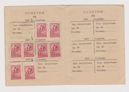 1950s Joint Bulgarian Soviet USSR Society Membership Card With Fiscal Revenue Stamps (63031) - Ohne Zuordnung