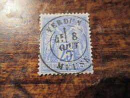 25c Type Sage Obl Reims Marne  1877 - 1876-1878 Sage (Typ I)