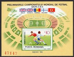 1985 Romania 4199/B219b 1986 FIFA World Cup In Mexico 15,00 € - 1986 – Messico