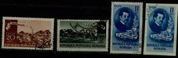 ROMANIA 1950 100th BIRTHDAY OF ION ANDREESCU MI No 1201-4 USED VF!! - Usati
