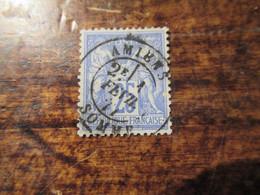 25c Type Sage Obl Amiens Somme1877 - 1876-1878 Sage (Typ I)