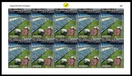 DJIBOUTI 2020 - SHEETLET SOCCER FOOTBALL LEAGUES INTERRUPTION COVID-19 PANDEMIC CORONA CORONAVIRUS - Only 200 Issued MNH - Nuovi