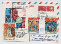 SPACE Stationery Cover Mail USSR RUSSIA Rocket Sputnik Set Stamp Baikonur Vietnam Gagarin Tsiolkovsky - Russia & URSS