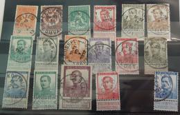 Belgique 108/22 +123 Et 125  Oblitérés 1912. Pellens. - 1912 Pellens