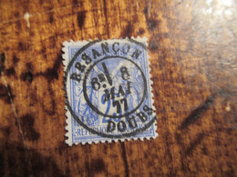 25c Type Sage Obl Besancon Doubs1877 - 1876-1878 Sage (Typ I)