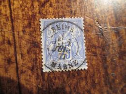25c Type Sage Obl Verdun Marne1877 - 1876-1878 Sage (Typ I)