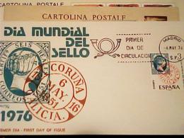 ESPAÑA ESPAGNE FDC 1976 DIA MUNDIAL Del SELLO  IG10586 - Giornata Del Francobollo