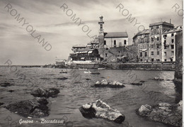 CARTOLINA  GENOVA-BOCCADASSE,LIGURIA,BELLA ITALIA,STORIA,CULTURA,RELIGIONE MARE,SPIAGGE, BARCHE A VELA,VIAGGIATA 1961 - Genova