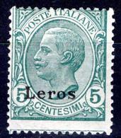 Egeo - Lero (Leros) 5 Centesimi ** - Egeo (Lero)