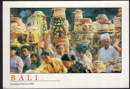 Indonesia - 1998 - Carte Postale - Bali - Ceremony Festival At Bali - A1RR2 - Indonesia