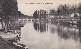 MELUN - Pont Et Les Bateaux-lavoir - Melun