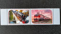 RUSSIA MNH(**)2021 Transportation - Modern Trains MI3019-3020 - Treni