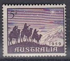 AUSTRALIA 304,unused,Christmas 1959 - Natale