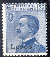 Egeo - Lero (Leros) 25 Centesimi ** - Egeo (Lero)