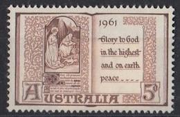 AUSTRALIA 315,unused,Christmas 1961 - Nuovi