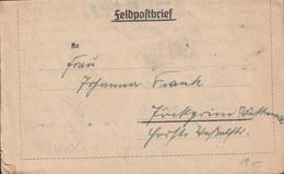 German Feldpost WW2: 3. Kompanie Luftwaffen-Bau-Bataillon 8/XII FP L25209 LGPA Breslau W/o Postmark - Letter - Militaria