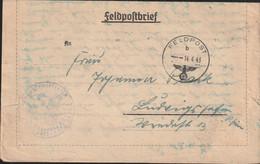German Feldpost WW2: 3. Kompanie Luftwaffen-Bau-Bataillon 8/XII FP L25209 LGPA Breslau Posted 14.4.1943 - Militaria