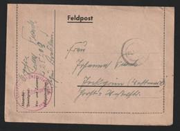 German Feldpost WW2: 3. Kompanie Luftwaffen-Bau-Bataillon 8/XII FP L25209 LGPA Breslau Posted 10.10.1943 - Militaria