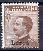 Egeo - Lero (Leros) 40 Centesimi * - Egeo (Lero)