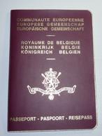 Belgium EU Passport 1989 Reisepass Passeport Obsolete - Documenti Storici