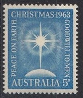 AUSTRALIA 337,unused,Christmas 1963 - Nuovi
