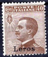Egeo - Lero (Leros) 40 Centesimi ** - Egeo (Lero)