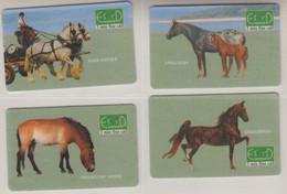 ISRAEL HORSES 4 CARDS - Cavalli