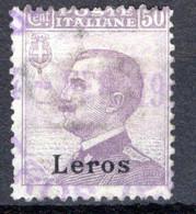 Egeo - Lero (Leros) 50 Centesimi (o) - Egeo (Lero)