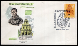 Argentina - 1965 - FDC - Fray Mamerto Esquiu - Apôtre De L'Argentine - A1RR2 - Cristianesimo