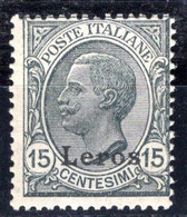 Egeo - Lero (Leros) 15 Centesimi ** Sass. 10 - Egeo (Lero)