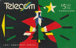 New Zealand, NZ-G-038, 1991 Christmas, Santa Claus, 2 Scans. - Natale