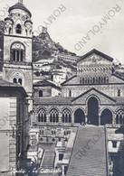 CARTOLINA  AMALFI,SALERNO,CAMPANIA,LA CATTEDRALE,BELLA ITALIA,CULTURA,STORIA,MEMORIA,RELIGIONE,IMPERO,VIAGGIATA 1962 - Salerno