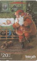 New Zealand, NZ-G-145, 1996 Christmas, Santa In Bedroom, 2 Scans. - Natale