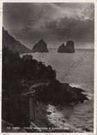 CARTOLINA  CAPRI,NAPOLI,CAMPANIA,TORRE SARACENA E FARAGLIONI,BELLA ITALIA,CULTURA,STORIA,MEMORIA,VIAGGIATA 1951 - Napoli