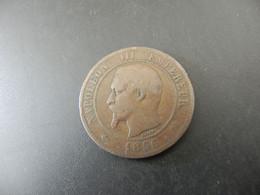 France 10 Centimes 1856 B - D. 10 Centimes