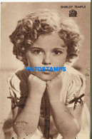 172118 ARTIST SHIRLEY TEMPLE US ACTRESS CINEMA MOVIE PUBLICITY CINE SELECT NO POSTAL POSTCARD - Attori