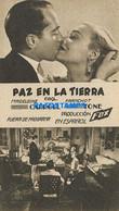 172121 ARTIST MADELEINE & FRANCHOT ACTOR CINEMA FILM PAZ EN LA TIERRA NO POSTAL POSTCARD - Attori
