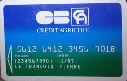 Petit Calendrier Poche 1987 Banque Crédit Agricole - Format Carte Bleue - Formato Piccolo : 1981-90
