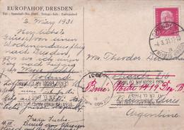 "ANALPHABETISME ILLITERACY ANALFABETISMO. MARQUE POSTALE SUR CARTE POSTALE ""EROPAHOF, DRESDEN"". CIRCULEE AN 1931- LILHU - Autres"