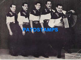 172135 ARTIST SANTA ANA CUARTETO ARGENTINA MUSIC & PUBLICITY TEATRO JOSE VERDI BREAK NO POSTAL POSTCARD - Attori