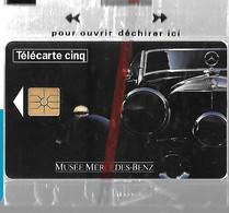 CARTE²-PUCE-5U-Gn104-01/95- GEMA-MUSEE MERCEDES BENZ-V°DN° Série 7001-NSB-TBE/LUXE - 5 Unità