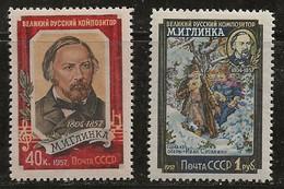 Russie 1957 N° Y&T : 1892 Et 1893 * - Nuovi